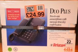 Boxed unopened Betacom Duo and a two in one answerphone. Not available for in-house P&P