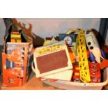 Quantity of playworn Fisher Price toys including lift and load depot, school days desk, aeroplane
