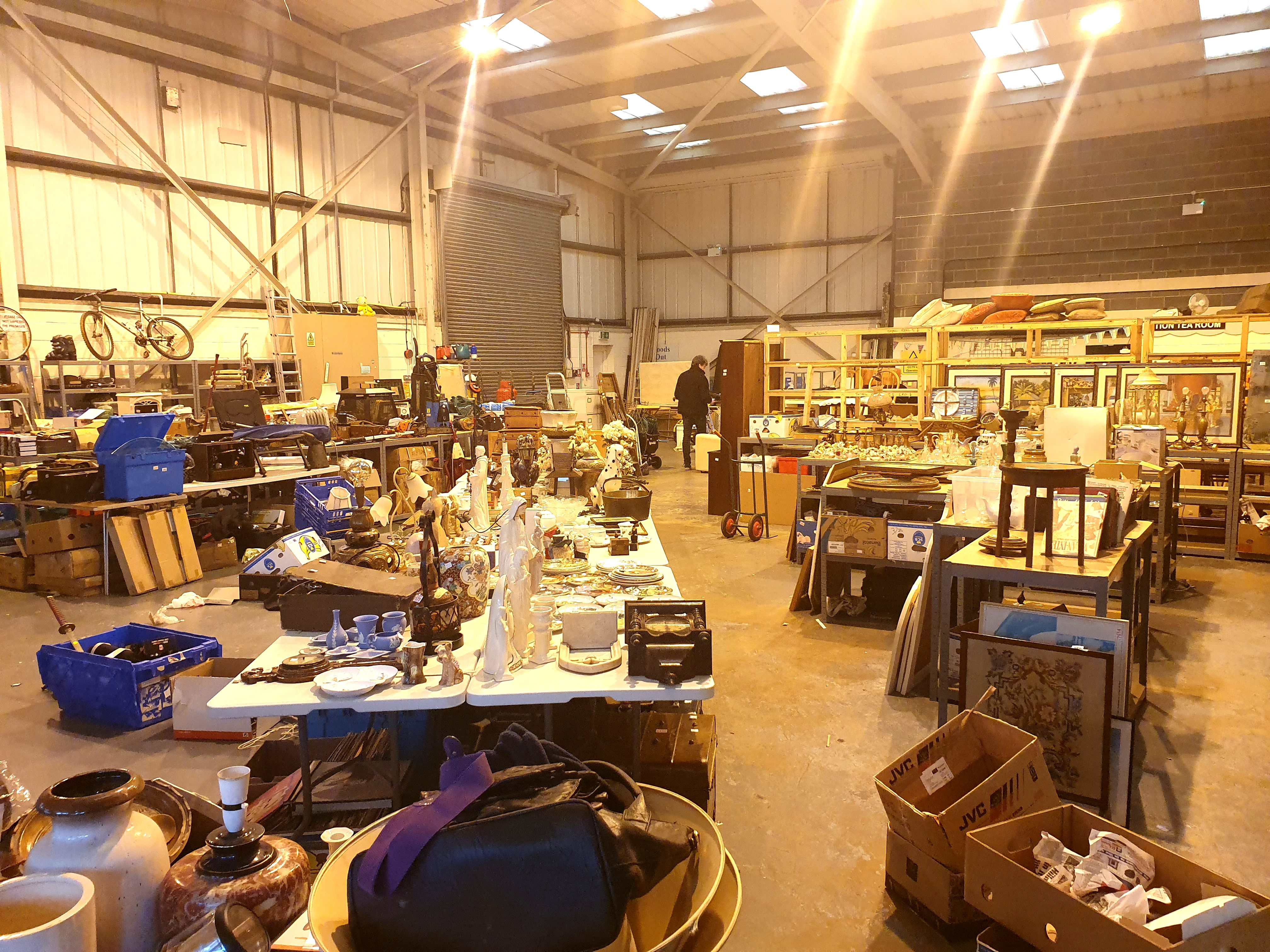 This auction is online only, through our two online bidding platforms. We will be closed to the