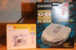 Casio P2830 portable CD player and a Kodak Easyshare digital camera and further Kodak. Not available