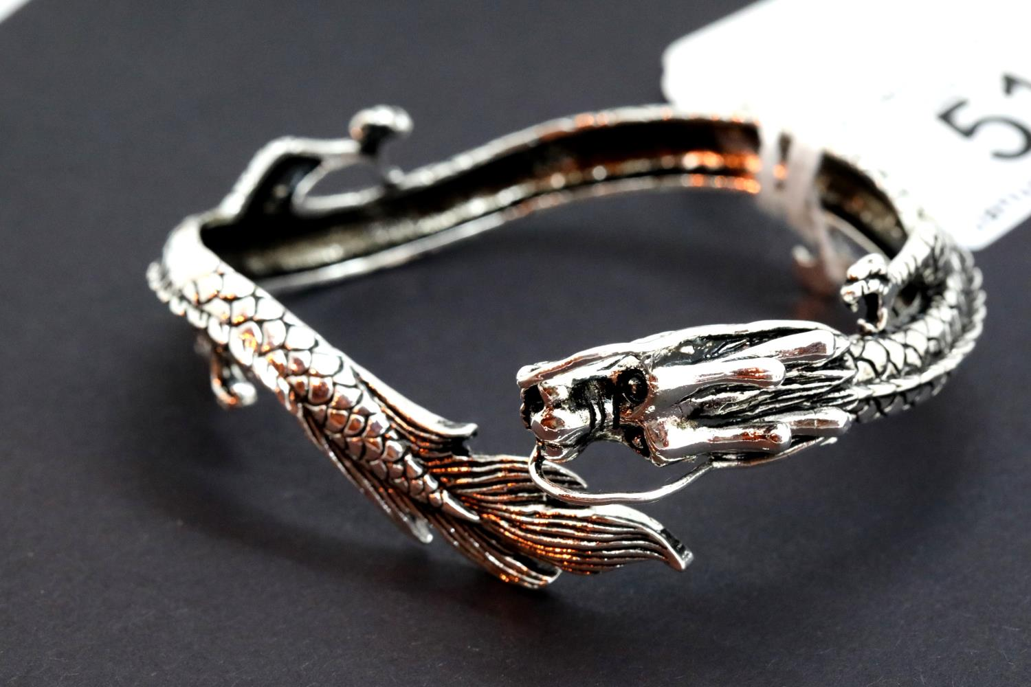 925 silver dragon bangle. P&P Group 1 (£14+VAT for the first lot and £1+VAT for subsequent lots)