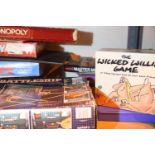 M B Computer battleships, Monopoly Hats Off and other boxed games. Not available for in-house P&P