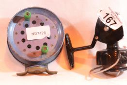 Scout 880 fly fishing reel and another fishing reel. Not available for in-house P&P