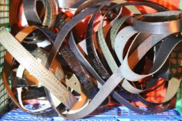 Quantity of mixed leather belts. Not available for in-house P&P