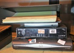 Sky HD box and Proline portable DVD player (unchecked) and pre printed blank album of Polish stamps,