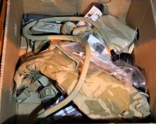 Box mixed military items, Not available for in-house P&P