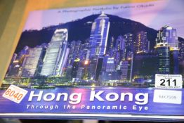 Photographic Panoramic view of Hong Kong hardback book by Fumio Okado. Not available for in-house