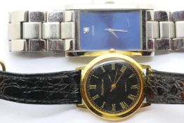 Two gents wristwatches, Guess and Mercier. P&P Group 1 (£14+VAT for the first lot and £1+VAT for