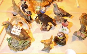 Quantity of animal figurines including Capodimonte. Not available for in-house P&P