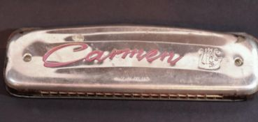 Carmen harmonica, Made in Poland. P&P Group 1 (£14+VAT for the first lot and £1+VAT for subsequent