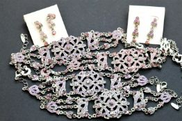 Two sets of stone set costume jewellery (bracelet, necklace, earrings). P&P Group 1 (£14+VAT for the