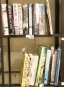 Two shelves of WWII related hardback books. P&P Group 3 (£25+VAT for the first lot and £5+VAT for