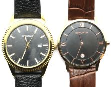Two gents Sekonda wristwatches, working at lotting. P&P Group 1 (£14+VAT for the first lot and £1+