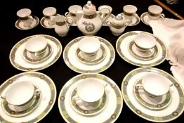 Noritake Ireland Boliska pattern tea and dinnerware of 34 pieces. P&P on this lot does not fall into