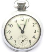 British Smiths Empire Air Ministry marked pocket watch numbered 6B/117, not working. P&P Group 1 (£