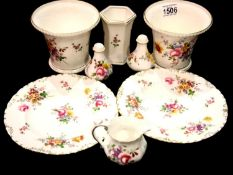 Royal Crown Derby, eight items of Derby Posies ceramics. P&P Group 3 (£25+VAT for the first lot