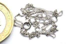 9ct white gold neck chain, L: 44 cm, 0.9g. P&P Group 1 (£14+VAT for the first lot and £1+VAT for
