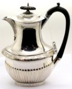 Walker and Hall Sheffield silver plated hot water pot, H: 24 cm. P&P Group 2 (£18+VAT for the
