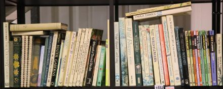 Three shelves of gardening books. Not available for in-house P&P, contact Paul O'Hea at Mailboxes on