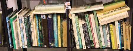 Two shelves of gardening books. Not available for in-house P&P, contact Paul O'Hea at Mailboxes on