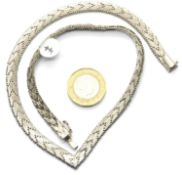 Ladies sterling silver solid collarette, L: 41 cm. 31.5g P&P Group 1 (£14+VAT for the first lot and