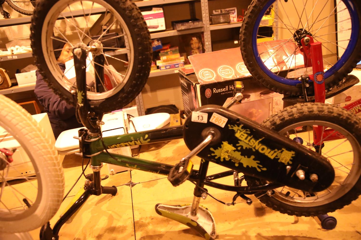 """Boys Raleigh (Monster) 10"""" framed single speed bike. Not available for in-house P&P, contact Paul"""