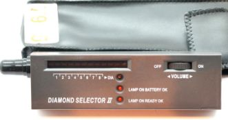 Cased diamond selector tester with new battery, new old stock. P&P Group 1 (£14+VAT for the first
