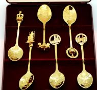Collectors World commemorative cased spoons to celebrate 50th year of Queen Elizabeth II coronation.