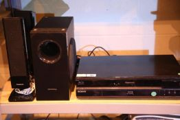 Panasonic surround sound system, Panasonic blu-ray player and a Sony blu-ray player. Not