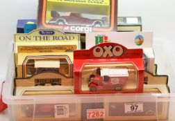 Selection of diecast boxed cars including Corgi 1956, Mercedes 300SC and Days Gone By by Lledo and