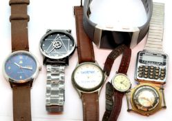 Quantity of gents fashion and dress watches. P&P Group 1 (£14+VAT for the first lot and £1+VAT for