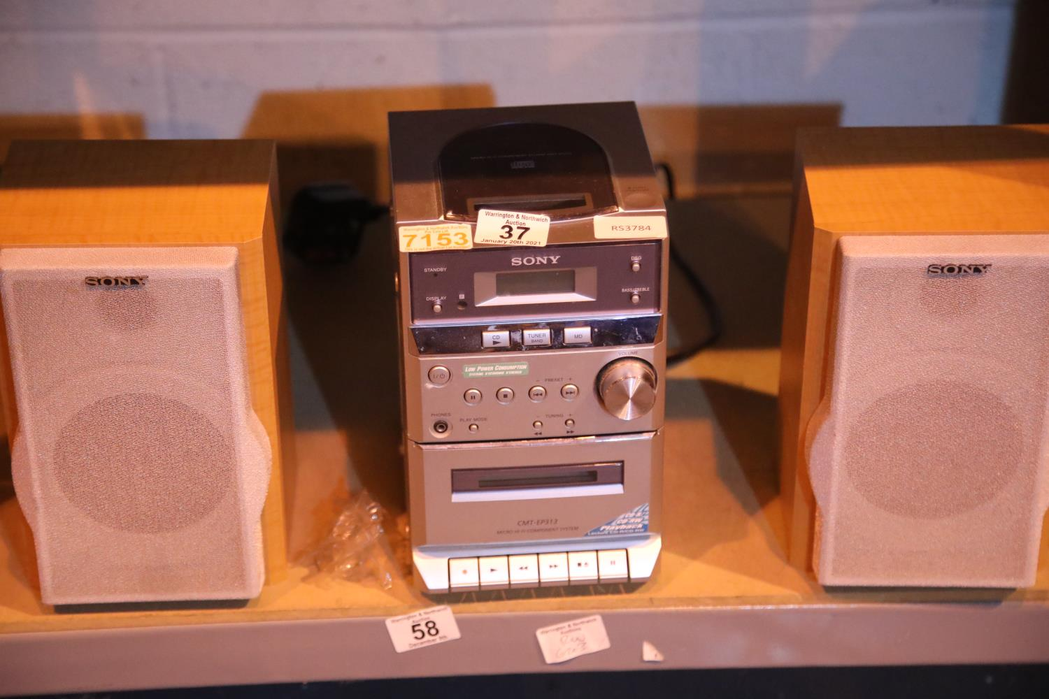 Sony CMT EP313 micro music system. Not available for in-house P&P, contact Paul O'Hea at Mailboxes