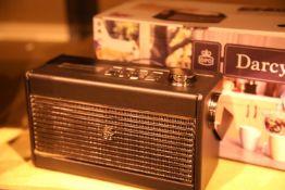GPO Darcy portable analogue FM/AM radio with alarm clock, preset 20 radio stations. P&P Group 2 (£