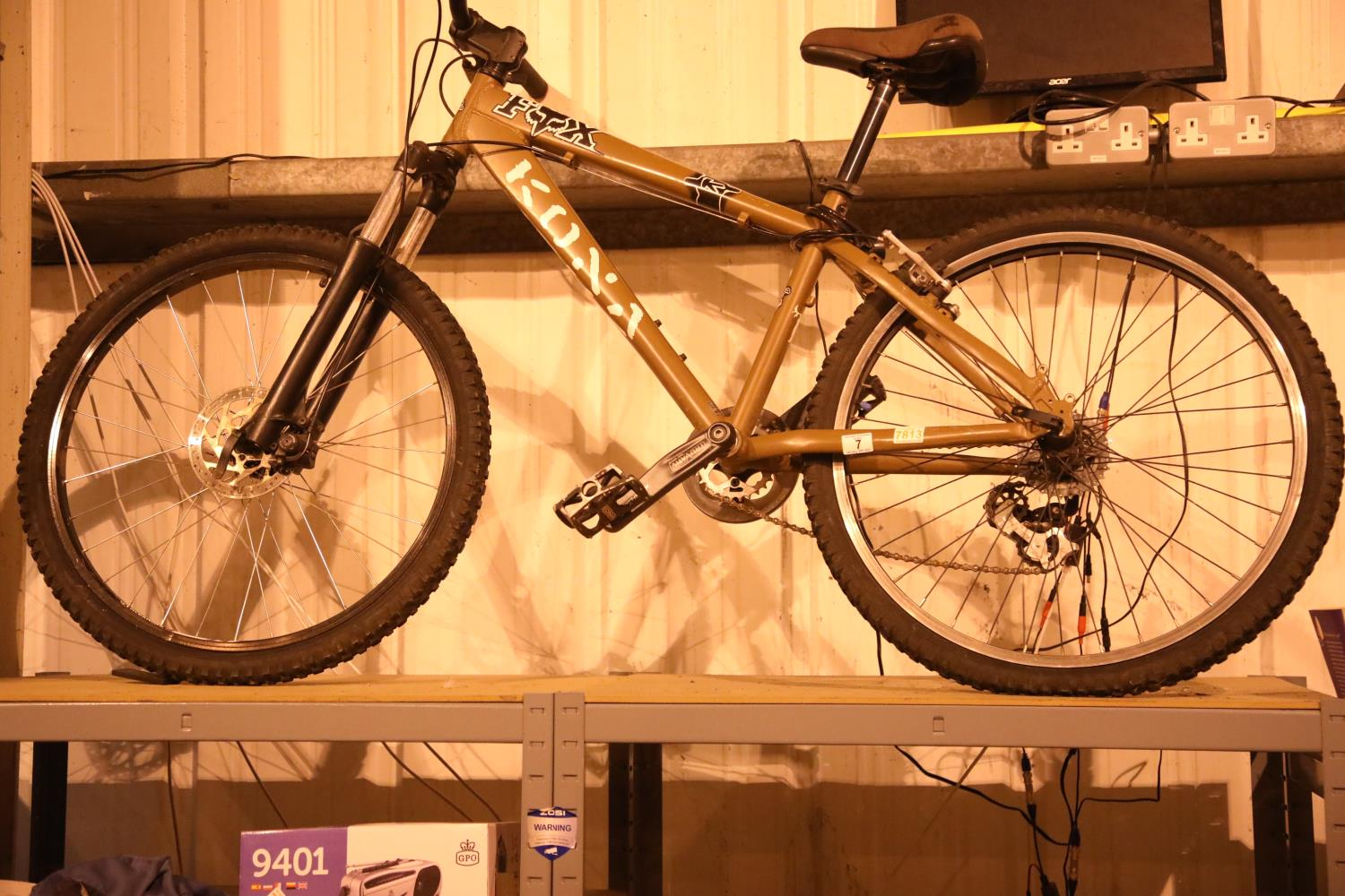 """Kona Shred 8 speed front suspension mountain bike with 15"""" frame. Not available for in-house P&P,"""