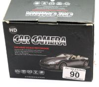Boxed as new HD Car Camera dash cam with both front and rear facing cameras. P&P Group 1 (£14+VAT