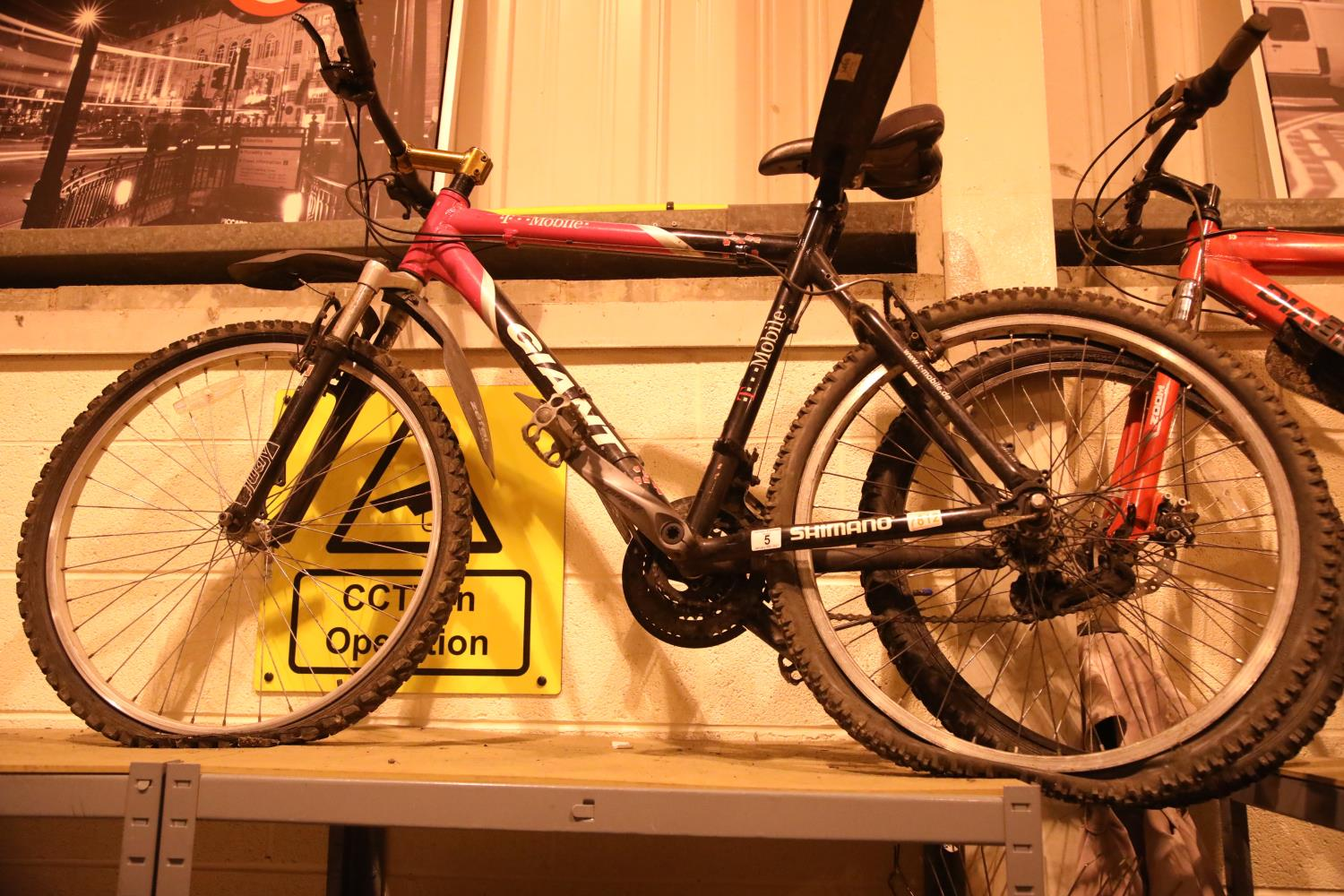 """Giant (T-Mobile) front suspension 24 speed mountain bike with 21"""" frame. Not available for in-"""