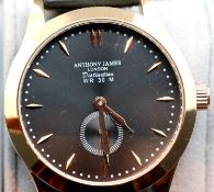 New boxed Anthony James gents wristwatches. P&P Group 1 (£14+VAT for the first lot and £1+VAT for