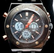 New boxed Michal Philippe gents wristwatch. P&P Group 1 (£14+VAT for the first lot and £1+VAT for