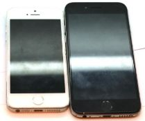 Apple iPhone 5s 32GB and an Apple iPhone 6s 64GB, both without chargers. P&P Group 1 (£14+VAT for