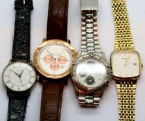 Four mixed gents watches including Sekonda. P&P Group 1 (£14+VAT for the first lot and £1+VAT for