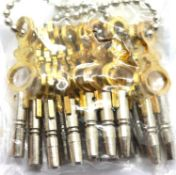 Quantity of 14 pocket watch keys, all different sizes. P&P Group 1 (£14+VAT for the first lot and £