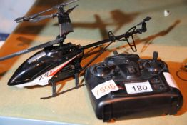 Remote control helicopter with remote. P&P group 2 (£18+VAT for the first lot and £3+VAT for