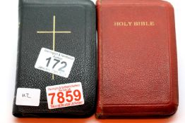 Leather cased Holy Bible and matching book of Common Prayer. P&P Group 1 (£14+VAT for the first