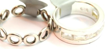 Two ladies 925 silver rings, Sizes O & K. P&P Group 1 (£14+VAT for the first lot and £1+VAT for
