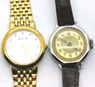 Two ladies wristwatches to include Avia and vintage Sewices Henley. P&P Group 1 (£14+VAT for the