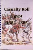Contemporary printed Casualty Roll for the Egypt Campaign 1882-85, compiled by Peter Newman. P&P