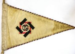 German Third Reich type TENO pennant, L: 33 cm. P&P Group 1 (£14+VAT for the first lot and £1+VAT