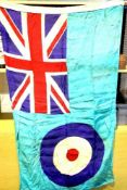 British WWII type RAF Squadron Base flag, stamped AM and dated 1940, 150 x 90 cm. P&P Group 1 (£14+