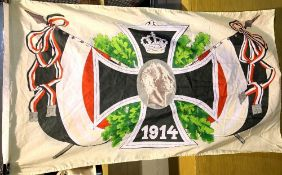 German Imperial WWI type Kaiser 1914 flag, 120 x 150 cm. P&P Group 1 (£14+VAT for the first lot