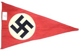 German WWII type party pennant, L: 36 cm. P&P Group 1 (£14+VAT for the first lot and £1+VAT for